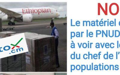 NON, le matériel commandé par le PNUD n'a rien à voir avec le don du chef de l'Etat aux populations