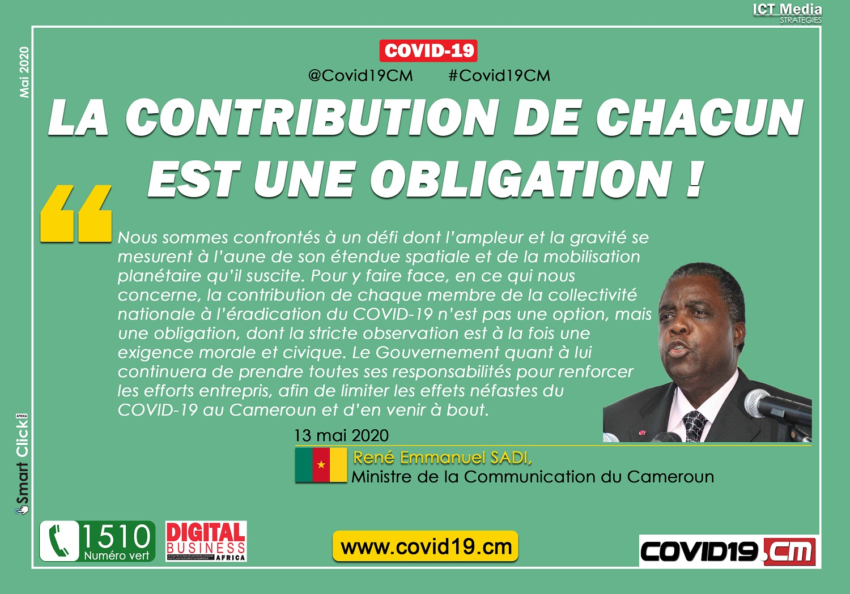 MESSAGE René Emmanuel Sadi sur le Covid-19