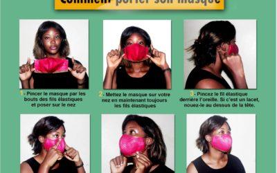 Covid-19 : Comment bien porter son masque de protection