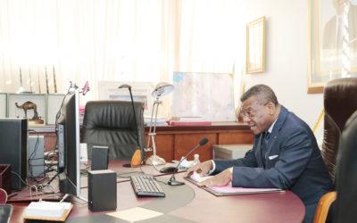 Le PM Joseph Dion NGUTE remobilise son équipe en vue du respect des mesures barrières contre la Covid-19